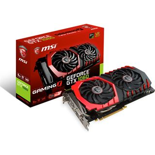 6GB MSI GeForce GTX 1060 Gaming X 6G Aktiv PCIe 3.0 x16 (Retail)