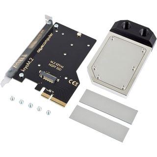 aqua computer kryoM.2 PCIe 3.0 x4 SSD-Adapterkarte mit Wakü,