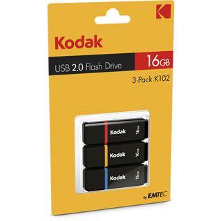 16 GB EMTEC K102 3er-Pack schwarz USB 2.0