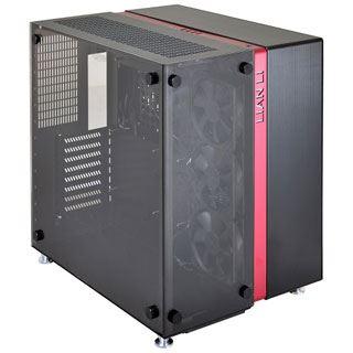 Lian Li Li PC-O9 mit Sichtfenster Wuerfel ohne Netzteil schwarz/rot