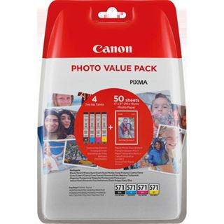 Canon CLI-571 Cyan/Magenta/Gelb/Schwarz Photo Value
