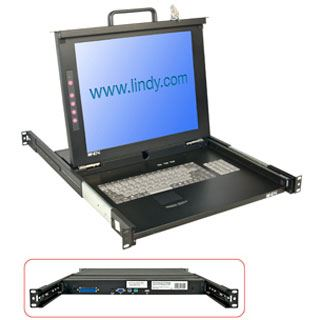 "Lindy 17""LCD KVM Terminal Classic DE 19""1HE Single Rail"