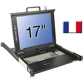 "Lindy 17""LCD KVM Terminal Classic FR 19""1HE Single Rail"