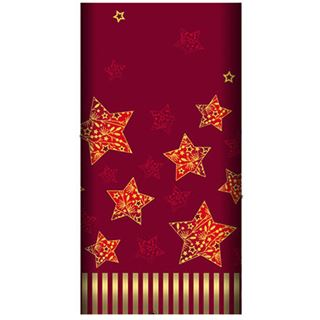 """Papstar Weihnachts-Tischdecke """"Sparkling Stars"""", rot"""