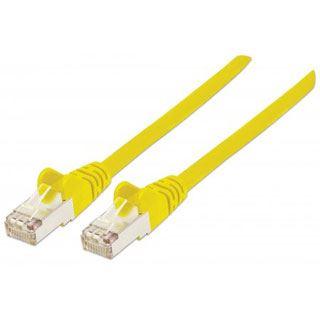 (€2,45*/1m) 2.00m Intellinet Cat. 6 Patchkabel S/FTP PiMF RJ45 Stecker auf RJ45 Stecker Gelb halogenfrei / vergoldet