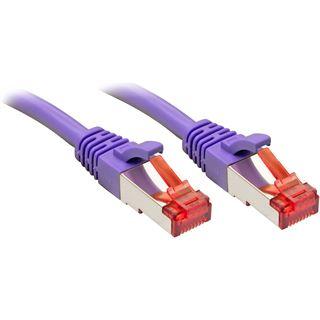 (€2,63*/1m) 3.00m Lindy Cat. 6 Patchkabel S/FTP RJ45 Stecker auf RJ45 Stecker Violett Klinkenschutz / vergoldet