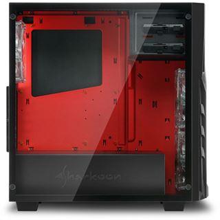 Sharkoon DG7000-G mit Sichtfenster aus Glas Midi Tower ohne Netzteil