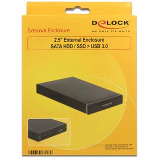 """Delock Wechselrahmen Einschub für 2,5"""" SATA HDD USB3.0"""