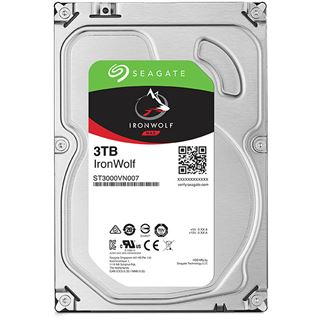 "3000GB Seagate IronWolf ST3000VN007 64MB 3.5"" (8.9cm) SATA 6Gb/s"