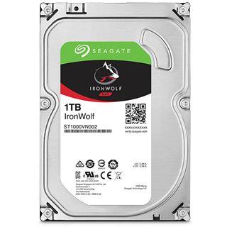 "1000GB Seagate IronWolf ST1000VN002 64MB 3.5"" (8.9cm) SATA 6Gb/s"