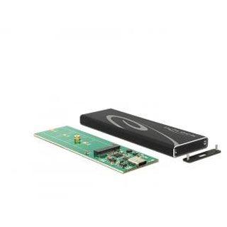 Delock M.2 2280 Gehäuse USB 3.1 Typ C schwarz