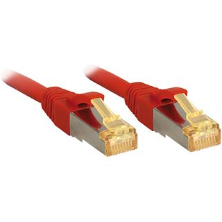(€6,90*/1m) 1.00m Lindy Cat. 7 Patchkabel S/FTP RJ45 Stecker auf RJ45 Stecker Rot Klinkenschutz / LSOH