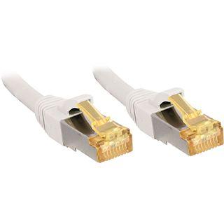 (€3,30*/1m) 3.00m Lindy Cat. 7 Patchkabel S/FTP RJ45 Stecker auf RJ45 Stecker Weiß Klinkenschutz / LSOH