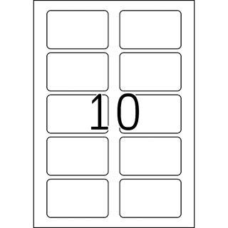 Herma Namensetiketten 80 x 50 mm, Acetat-Seide, roter Rand