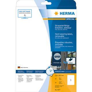 Herma Folien-Etiketten SPECIAL, 210 x 297 mm, ablösbar