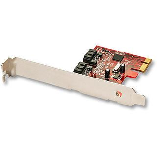 Lindy SATA 6 Gbit/s Hybrid Karte 2 int. Port PCIe 2x SATA 6Gbit/s