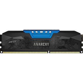 16GB PNY Anarchy blau DDR3-1600 DIMM CL9 Dual Kit