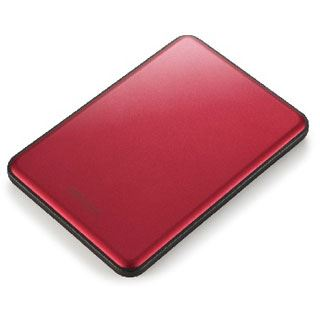"""1000GB Buffalo MiniStation Slim HD-PUS1.0U3R-WR 2.5"""" (6.4cm) USB 3.0 rot"""