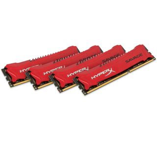 32GB HyperX Savage rot DDR3-1600 DIMM CL9 Quad Kit