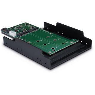 "Inter-Tech Adapter KT022B, 1x SATA zu 2x M.2 SATA, 3,5"" Tray"