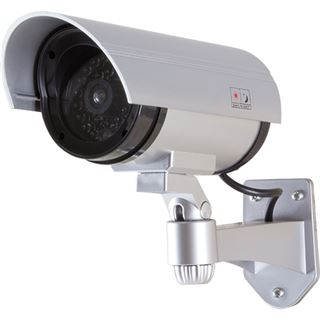 Logilink Security Kamera Attrappe Außen mit Rotem LED Lic