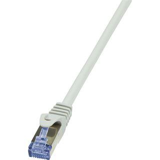 (€1,45*/1m) 7.50m LogiLink Cat. 6a Patchkabel S/FTP PiMF RJ45 Stecker auf RJ45 Stecker Grau Knickschutzelement / Polybag