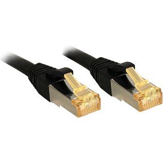 (€2,09*/1m) 10.00m Lindy Cat. 7 Patchkabel S/FTP PiMF RJ45 Stecker auf RJ45 Stecker Schwarz Klinkenschutz / LSOH