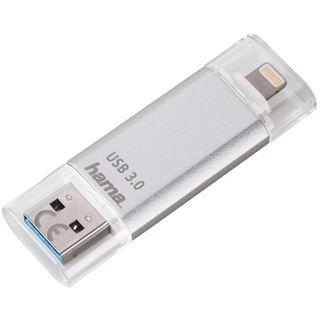 32 GB Hama FlashPen Save2Data silber USB 3.0 und Lightning