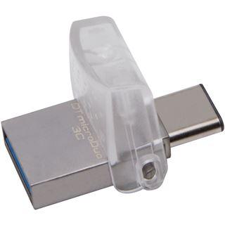 128 GB Kingston DataTraveler microDuo silber USB 3.1 und Typ-C