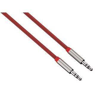 (€14,90*/1m) 1.00m Hama Audio Anschlusskabel 3.5mm Klinken-Stecker auf 3.5mm Klinken-Stecker Rot