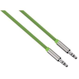 (€11,90*/1m) 1.00m Hama Audio Anschlusskabel 3.5mm Klinken-Stecker auf 3.5mm Klinken-Stecker Grün
