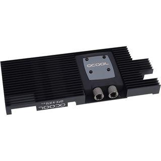Alphacool NexXxoS GPX - Nvidia Geforce GTX 970 M14 - mit Backplate - Schwarz