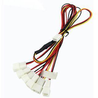 Phobya Y-Kabel 3Pin Molex auf 6x 3Pin Molex 60cm