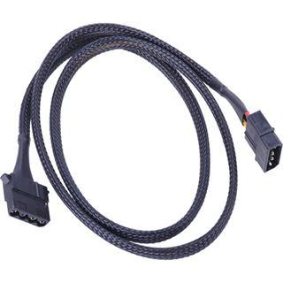 Phobya 4Pin Molex Stromverlängerung 90cm - Schwarz