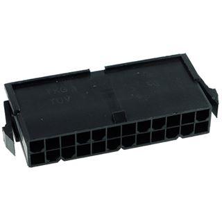 Phobya ATX Power Connector 24Pin Buchse inkl. 24 Pins - Black