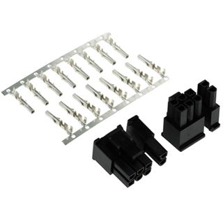 Phobya VGA Power Connector 6+2Pin Stecker inkl. 8 Pins - 2 Stück Black