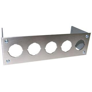 Phobya Frontblende für 5x Wippschalter rund - Edelstahl