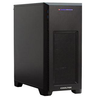 Cooltek MT-03 Mini Tower ohne Netzteil schwarz