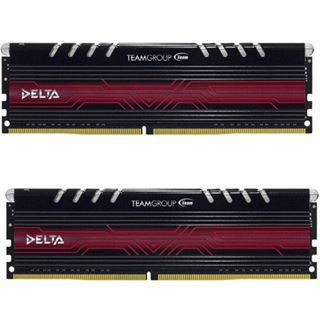 32GB TeamGroup Delta LED rot DDR4-2400 DIMM CL15 Dual Kit