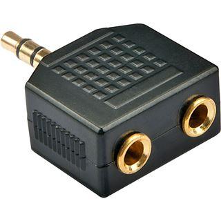 Lindy Audio Adapter 3.5mm Klinke Stecker Stereo auf 2x 3.5mm Klinke