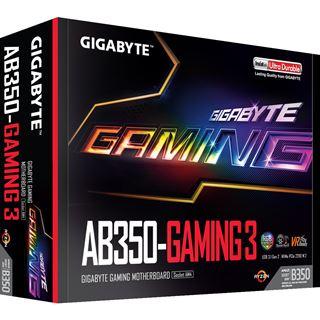 Gigabyte GA-AB350-Gaming 3 AMD B350 So.AM4 Dual Channel DDR4 ATX Retail