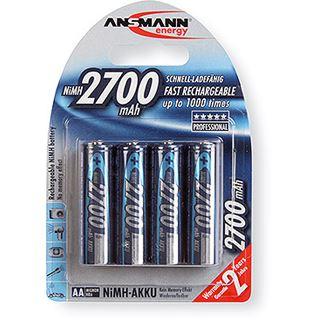 ANSMANN Akkus AA / Mignon Nickel-Metall-Hydrid 2700 mAh 4er Pack