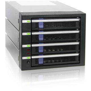 "Icy Dock MB454SPF-B 3.5"" (8,89cm) SATA 6 GB/s schwarz/silber"