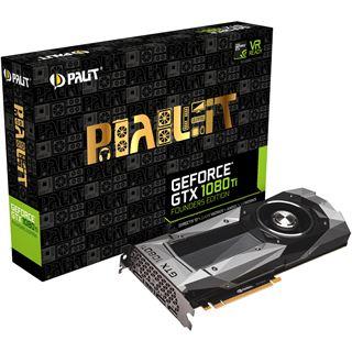 11GB Palit GeForce GTX 1080 Ti Founders Edition Aktiv PCIe 3.0 x16 (Retail)