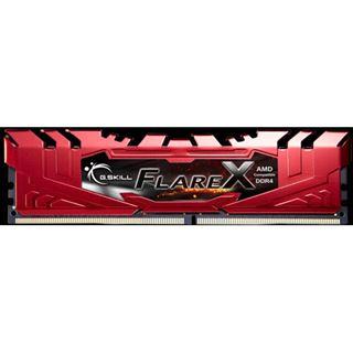 16GB G.Skill Flare X für AMD rot DDR4-2400 DIMM CL16 Dual Kit