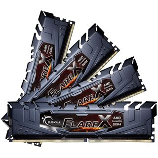 32GB G.Skill Flare X für AMD schwarz DDR4-2400 DIMM CL15 Quad Kit