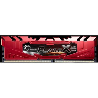 64GB G.Skill Flare X rot DDR4-2400 DIMM CL15 Quad Kit