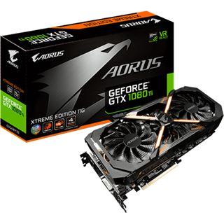11GB Gigabyte GeForce GTX 1080 Ti AORUS Xtreme Edition Aktiv PCIe 3.0 x16 (Retail)