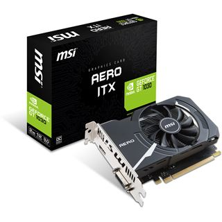 2GB MSI GeForce GT 1030 AERO ITX 2G OC Aktiv PCIe 3.0 x16 (x4)