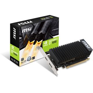 2GB MSI GeForce GT 1030 2GH LP OC Passiv PCIe 3.0 x16 (x4) (Retail)